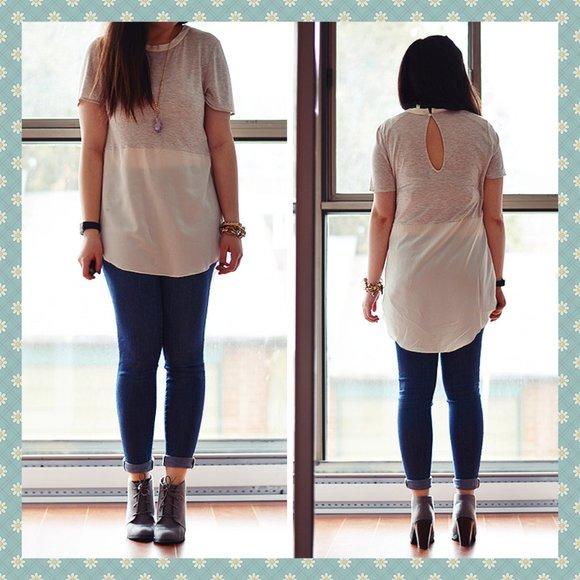 Aritzia Wilfred Capucine Silk T-Shirt